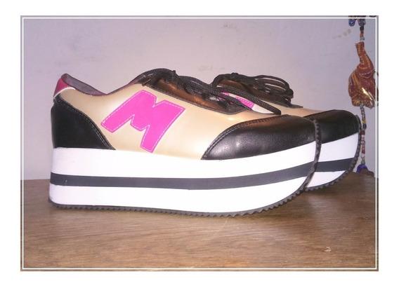 Zapatillas Plataforma Sneakers, Las De La M