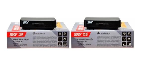 Receptor Sky Pré Pago Flex Sd - Compre 1 E Leve 2 - Tv Digital - Para Antena Parabólica Ku - Pronta Entrega