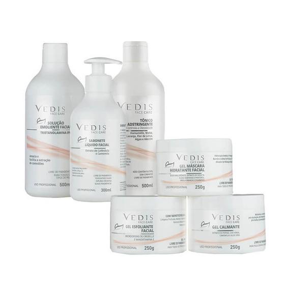 Limpeza De Pele Kit Profissional Face Care Vedis - 6 Itens