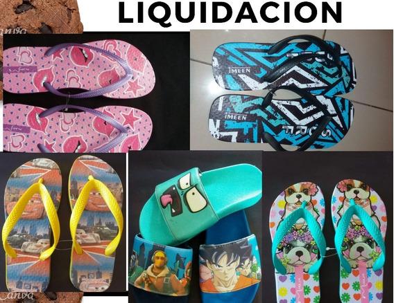 Liquido..lote De Ojotas De Niños Y Adultos Del 25 Al 44