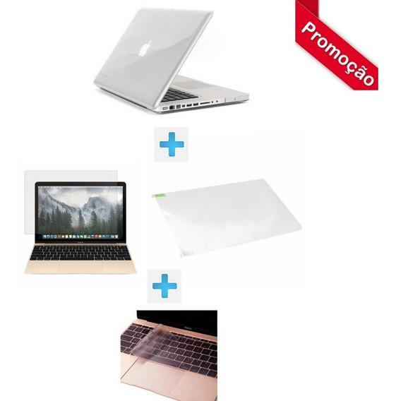 Capa Case Macbook 12 + Protetor Teclado + Película + Frete