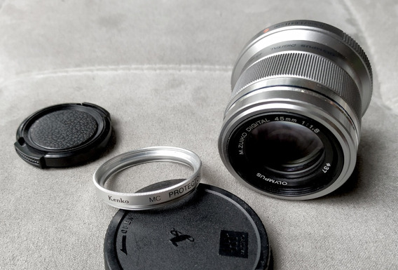Lente Olympus M.zuiko Digital 45mm F/1.8 M4/3 P/ Panasonic