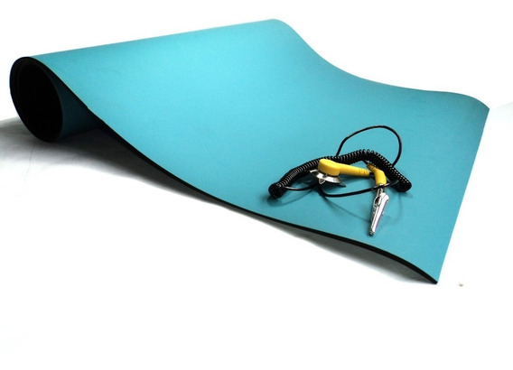 Manta Antiestatica Esd Azul 2 Camadas Statron 500x500mm