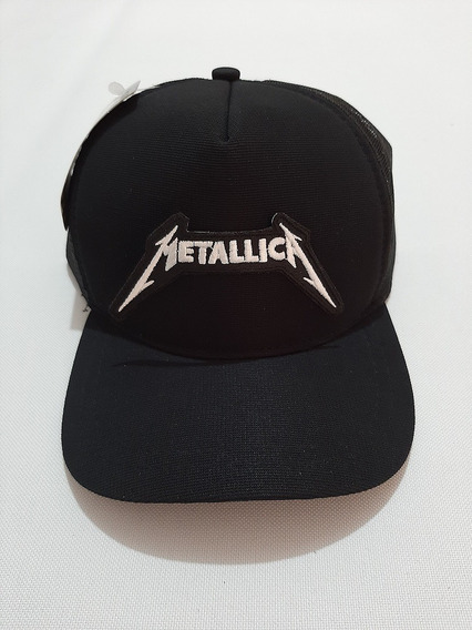 Boné Trucker Com Patch Metallica