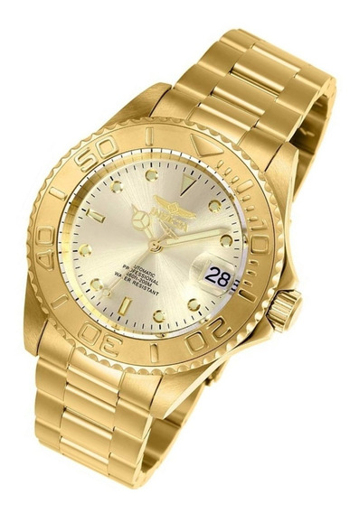 Relógio Invicta 9010ob Automático Banhado Ouro 18k