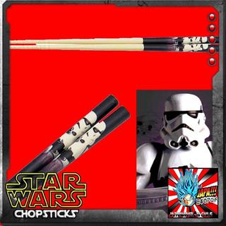 Stormtrooper Palitos Star Wars Bamboo Chopsticks Skatte Nuev
