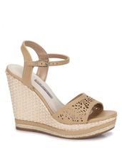a4445ea9da Sandalias Anabela Passarela - Sapatos Nude no Mercado Livre Brasil