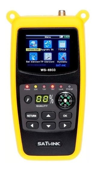 Localizador De Satélite Profissional Satlink Ws-6933 Hd Oi Tv Antena Digital Parabólica Dvb-s2