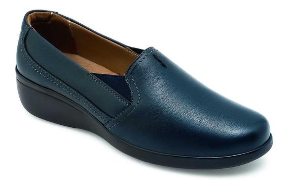 Zapato Confort Casual Para Dama Azul Marino Danie 7909