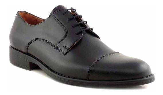 Zapato Briganti Cuero Vestir Hombre Mocasin Goma - Hcac00915