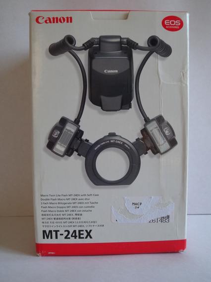 Canon Twin Flash Mt-24ex Duplo P/ Odontologia Excelente Sp