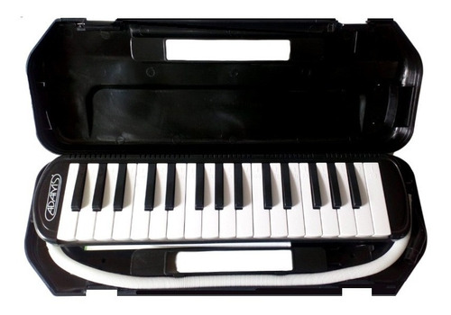Imagen 1 de 5 de Flauta Melodica Melody  32 Teclas Negro-estuche Rigido