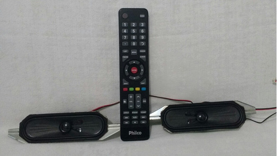 Kit Controle Remoto Philco Ph32861dg + Par De Auto Falantes.