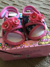 Sapato Bebê Menina Sandália