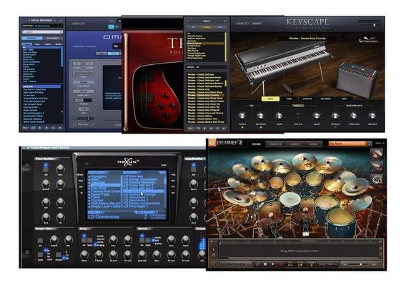 Omnisphere + Trilian + Keyscape + Refx Nexus 2 + Ezdrummer2