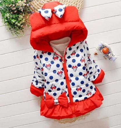4be5cb4e2 Jaqueta Casaco Blusa De Frio Infantil Forrada Com Toca Minie - R$ 110,00 em  Mercado Livre