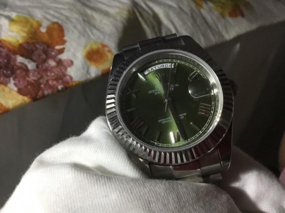 Relógio Rolex, Daydate, Fundo Cinza-verde, Aro Presidente