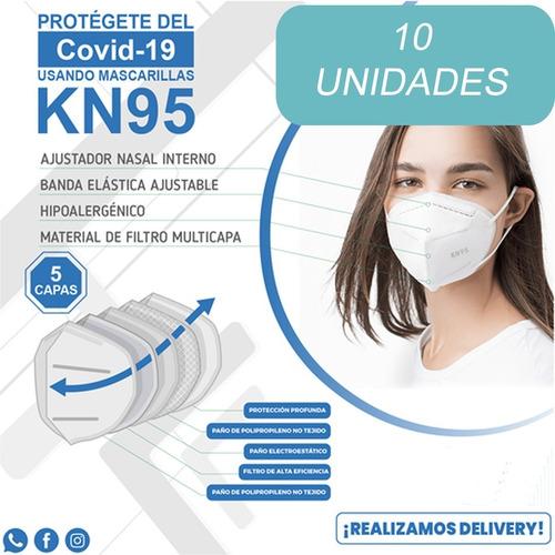Tapabocas/barbijos  Kn95 Certificados Caja De 10 Unid