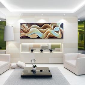 Quadro Decorativo Abstrato Sala Tela Casal 50x150 T.023