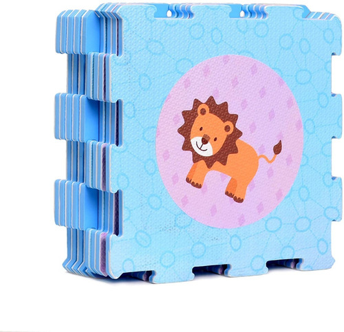 Tapete Foam Bebes Playmat Animals Interlocking X 9pcs