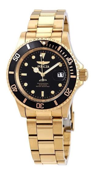 Relógio Invicta 26975 Pro Diver Quartz 40mm Dourado E Preto Original Importado