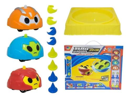 Pião Spin Battle Arena Jogo Brinquedo Infantil 4und Bbr Toys
