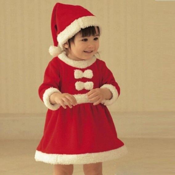 Fantasia Papai Noel Ou Mamãe Noel Bebê Infantil