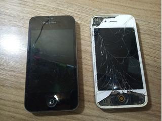 Lote 2 Unidades I-phones 4s Quebrado