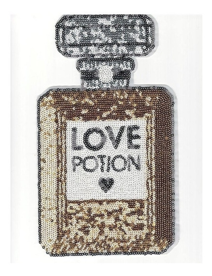Aplicaciòn, Parche Grande Lentejuela Perfume, Decora Tu Ropa