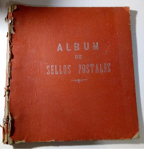 Album De Sellos Postales Mas De 200 Estampillas Antiguas