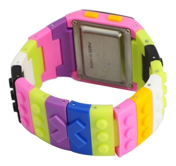 Relógio Lego De Pulso Digital Rosa Adulto E Infantil