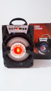 Parlante Potenciado Bluetooth Con Luces De Led