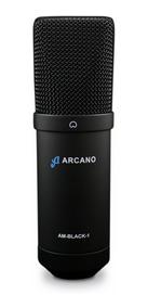 Microfone Usb Arcano Para Estúdio Am-black-1 Usb