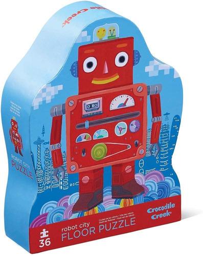 Puzzle 36 Pzas Grandes De Piso Rompecabezas Ciudad Robot Cr