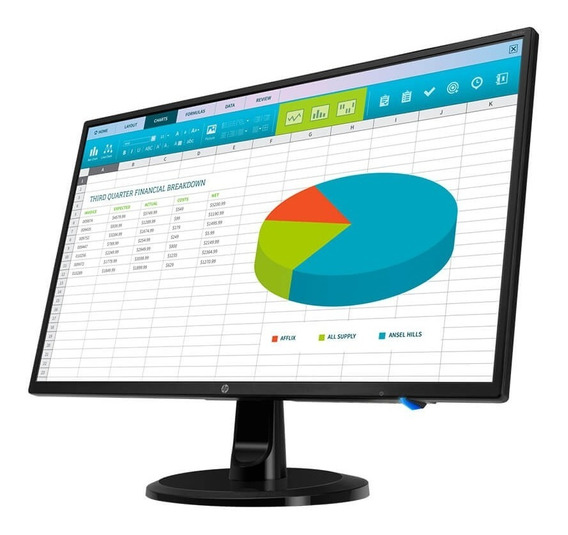 Monitor 24 Led Hp N246v 1920x1080 Hdmi Dvi Vga 60hz 1rm28aa