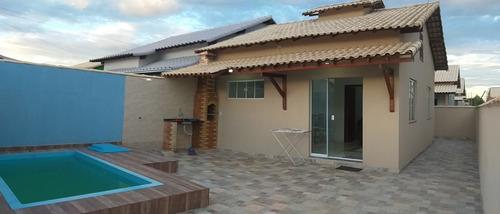 Imagem 1 de 12 de Casa Pronta Com Piscina Unamar, Cabo Frio