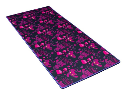 Mousepad Ilustrado Hyrax  900x400 Bordas Costuradas Rosa