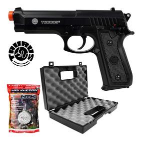 Pistola Airsoft Cybergun Taurus Pt92+ Maleta Rossi+2000 Bbs