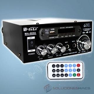 Amplificador De Sonido 70w, Karaoke, Mp3, Usb,