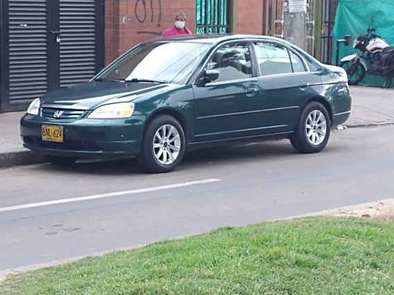 Honda Civic Lx 2002 1.7 Litros Caja Mecánica Placa Par