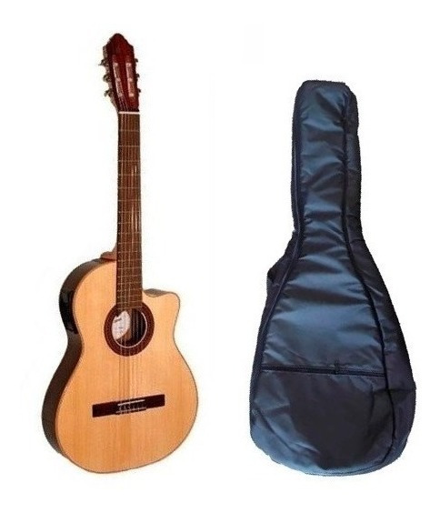 Guitarra Fonseca 40 Kec C/artec Caja Entera Con Funda