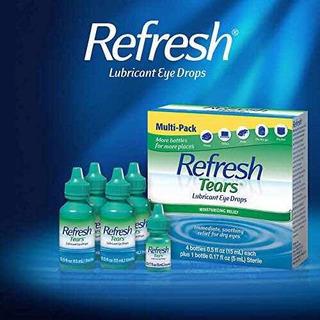 Refresh Tears Gotas Lubricantes 4 Pack 15ml Mas 5ml