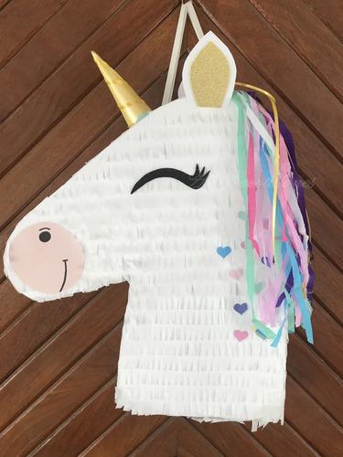 Piñata Unicornio. Infantil. Cumpleaños. Allegracotillones.