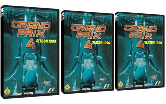 Grand Prix 4 Season 1993, 1996, 1999 Pc Dvd - Frete 8 Reais