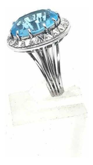 Anillo Vintage Con Diamantes Naturales En P Pladio Hermoso