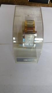 Reloj Casio Original Caballero Baño De Oro