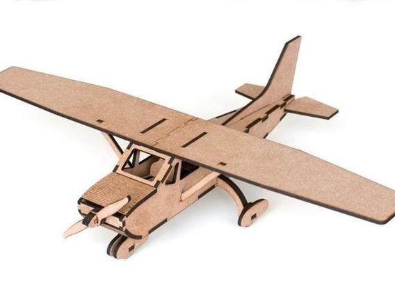 1 Avião, Brinquedo, Mdf, Lembrancinha. Cessna