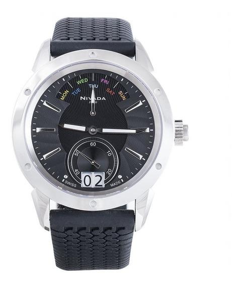 Reloj Nivada Diplomat Nvng30771gacni Hombre Original