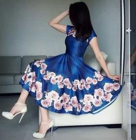 Vestido Midi Moda Evangélica Boneca Rodado Gode Duplo Suplex