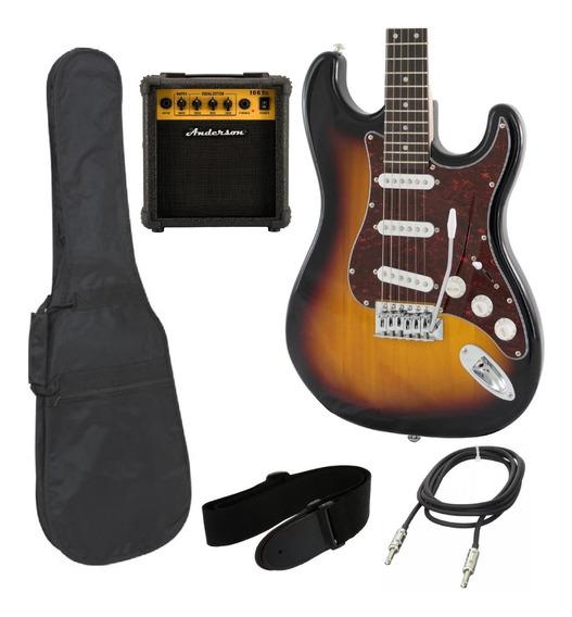 Combo Guitarra Eléctrica Alabama + Amplificador + Accesorios